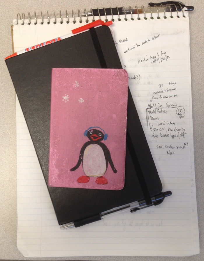 Notebooks I carried with me today.