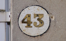 House number, 43