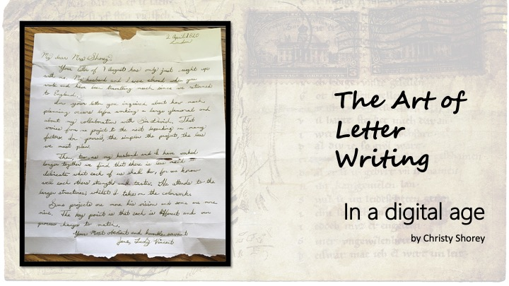 The Art of Letter Writing In a Digital Age - by Christy Shorey