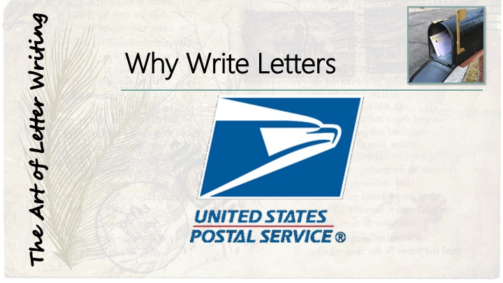 Why Write Letters - image of USPS logo.