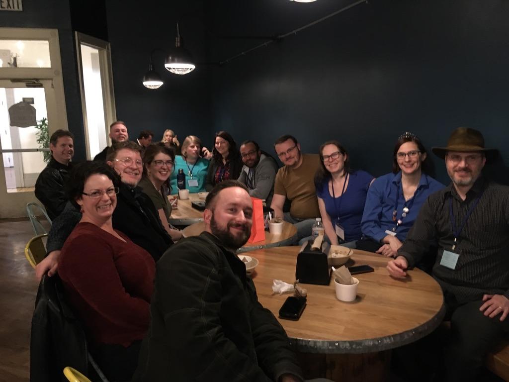 Photo of WXR alumni at Ice Cream shop